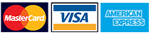 we accept credit cards, visa, master card, american express